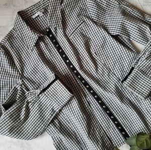 Cabi Black and White Blazer Jacket Size L Snap